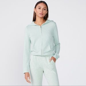 MONROW 2 Piece Set Lounge Jogger Zip Hoodie Supersoft Size Small MSRP $266